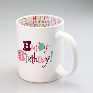 Happy mother's day white ceramic mug for sublimation use